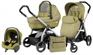 Коляска 3 в 1 Peg-Perego Book Plus Set Modular Pop-Up (шасси Silver) Green Tea