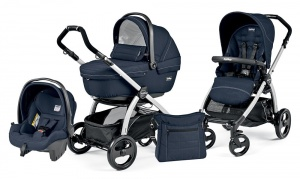 Коляска 3 в 1 Peg-Perego Book Plus Set Modular Sportivo (шасси Silver) Mod Navy