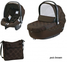 Коляска 3 в 1 Peg-Perego Set Modular Pois brown
