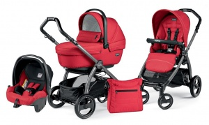 Детская коляска 3 в 1 Peg-Perego Book Plus S Sportivo Set Modular (шасси Jet) Mod Red