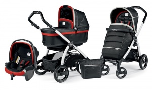 Детская коляска 3 в 1 Peg-Perego Book Plus S Pop-Up Set Modular (шасси White) Synergy