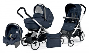Коляска 3 в 1 Peg-Perego Book Plus 51 Set Modular Sportivo (шасси White) Mod Navy