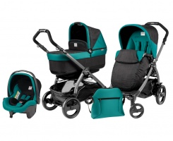 Коляска 3 в 1 Peg-Perego Book Plus 51 Pop Up Set Modular (шасси Jet) Aquamarine