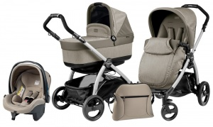 Коляска 3 в 1 Peg-Perego Book Plus Set Modular Pop-Up (шасси Silver) Cream