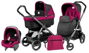 Коляска 3 в 1 Peg-Perego Book Plus 51 Pop Up Set Modular (шасси Jet) Fleur