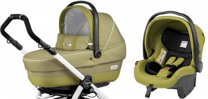 Коляска 3 в 1 Peg-Perego GT3 Completo + Set Modular Green Tea