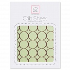 Простынь детская SwaddleDesigns Fitted Crib Sheet Lime w/BR Mod C