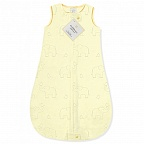 Детский спальный мешок SwaddleDesigns zzZipMe Sack Yellow/Sterling Deco Elephant