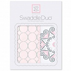 Набор пеленок Swaddle Duo Pink Mod Medallion SwaddleDesigns