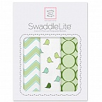 Наборы пеленок SwaddleDesigns SwaddleLite Chic Chevron Lite Kiwi