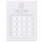 Простынь детская SwaddleDesigns Fitted Crib Sheet Sterlingl Mod